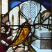 Mass of St Gregory.  This mediaeval glass was given in memory of Felix Michael Young.   Rector 1949-1958. by Glass Angel