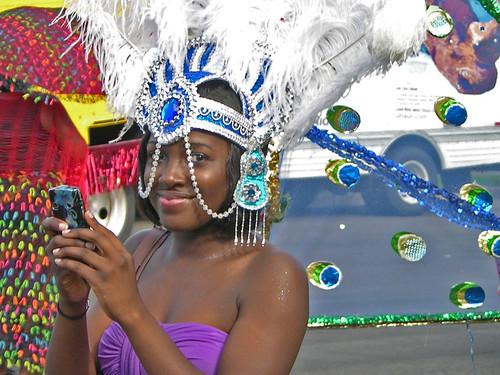 Carifest 2012 costumed photographer