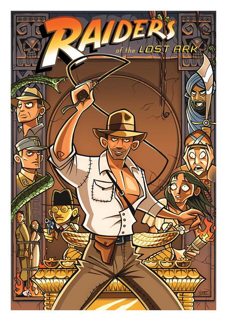 Posters de Filmes em animações caçadores da arca perdida
