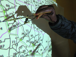 RuralNet's Fison with his improvised compass