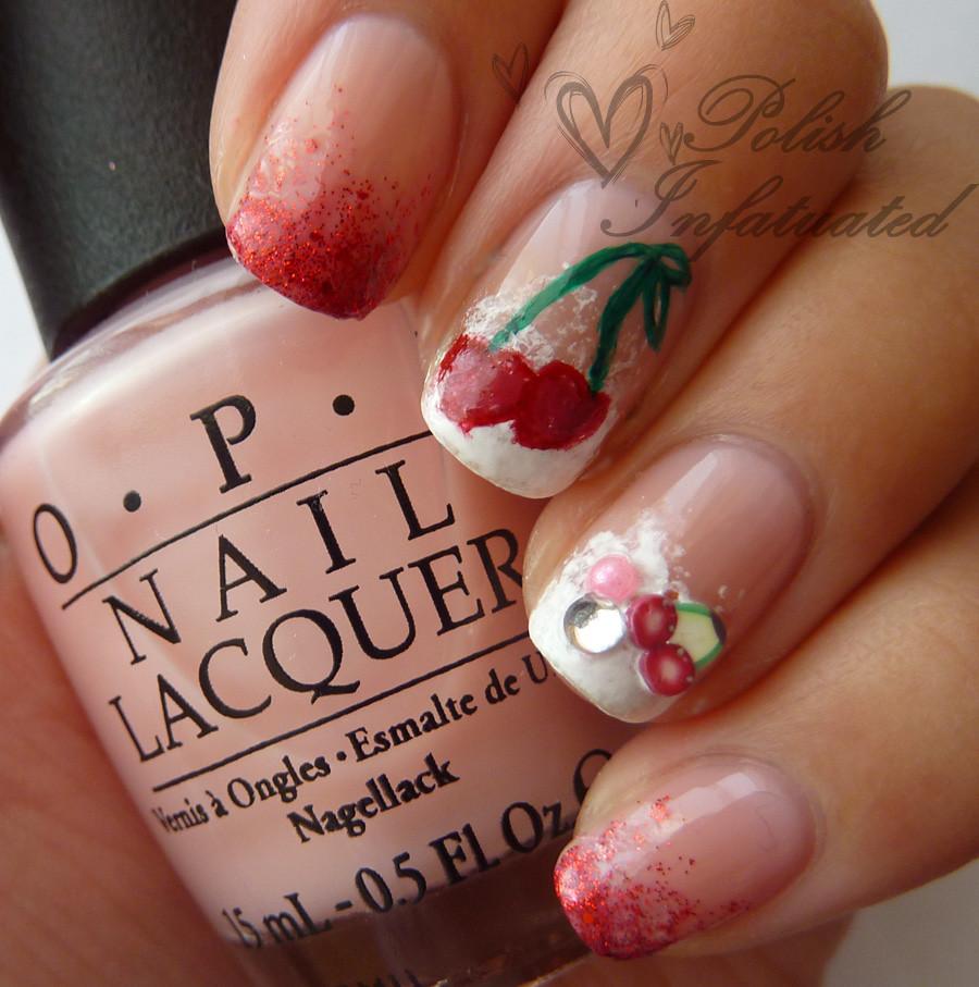 cherry nail art1
