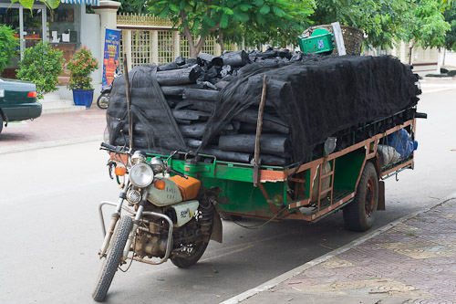 a load of charcoal