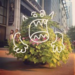 The plants on Michigan Avenue are monstrous