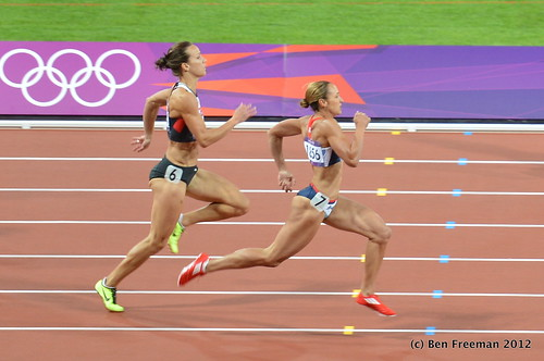 Jessica Ennis in the Heptathlon 200m, 2012 London Olympcs