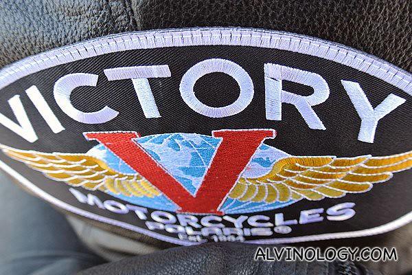 Victory bike jacket my rider was wearing