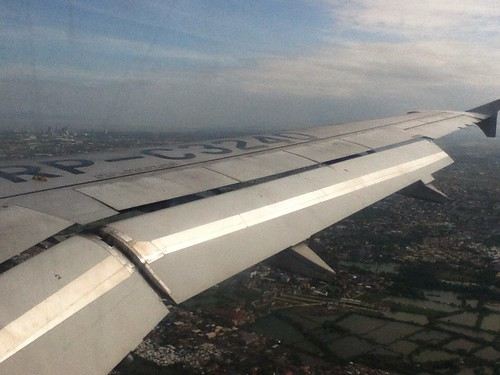 Plane approaching Manila