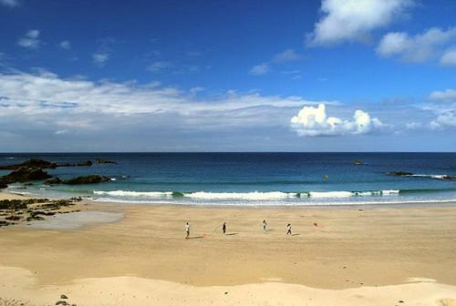 Один из пляжей на Олдерни