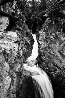 Upper Christine Falls (B&W)