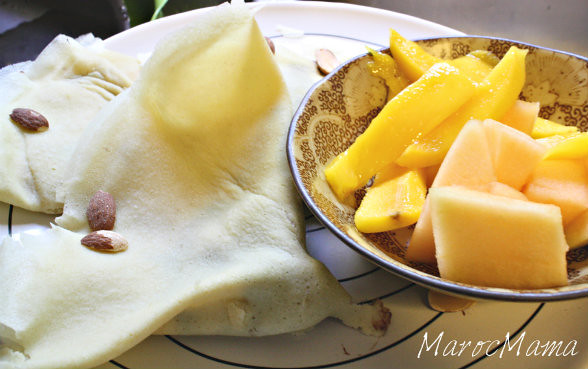 Crepes and Fruit