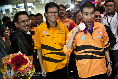 Photo: The fans to welcome Dato' LCW back to Malaysia !
