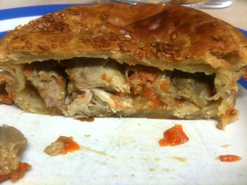 inside the Traditional Chicken Pie