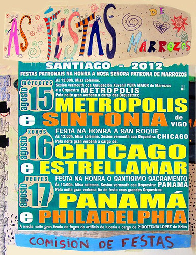 Santiago de Compostela 2012 - Festas patronais en Marrozos - cartel
