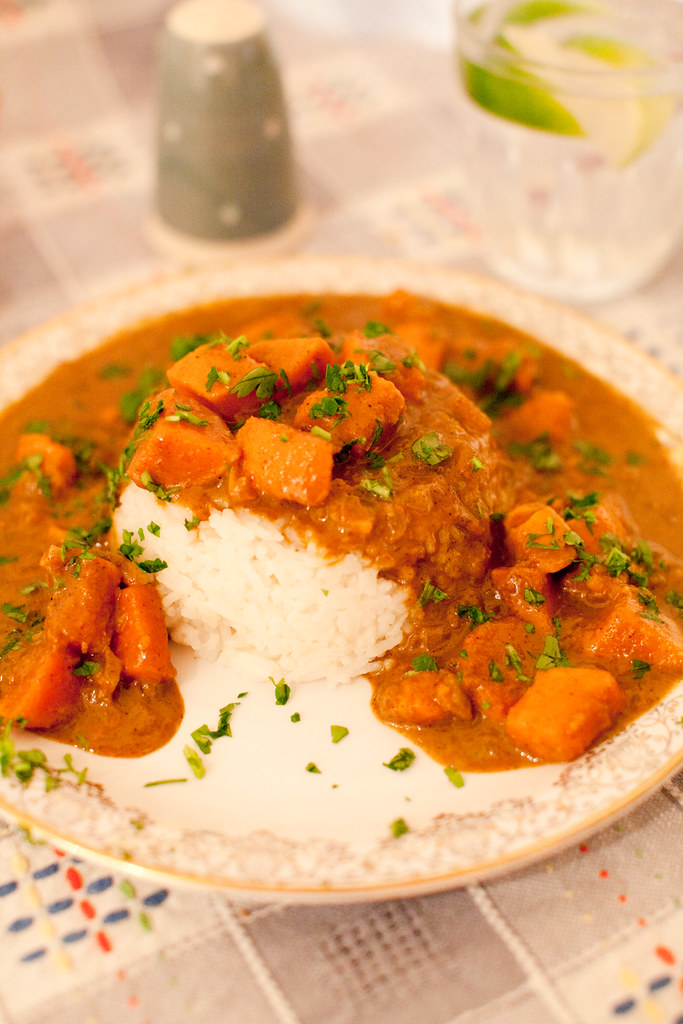 coconut & lime sweet potato curry.