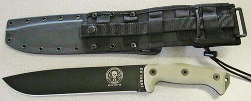 "ESEE Knives Junglas Machete 10"" Blade, Micarta Handles, Kydex Sheath"