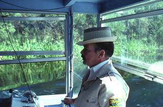Tour boat guide George Bower: Wakulla Springs, Florida