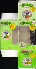 TEENAGE MUTANT NINJA TURTLES :: 5th ANNIVERSARY COLLECTOR TURTLE .. box i (( 1992 ))
