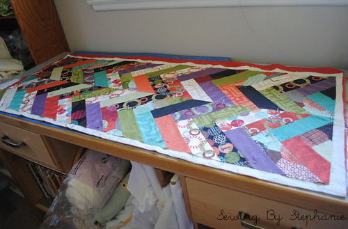 Juggling Summer Tablerunner in Progress