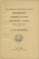 ANS 1914 Colonial Coin Exhibit catalog