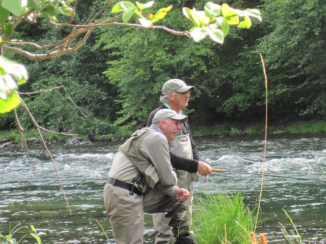 Dick Fraser and Jeff Carr on the North Umpqua