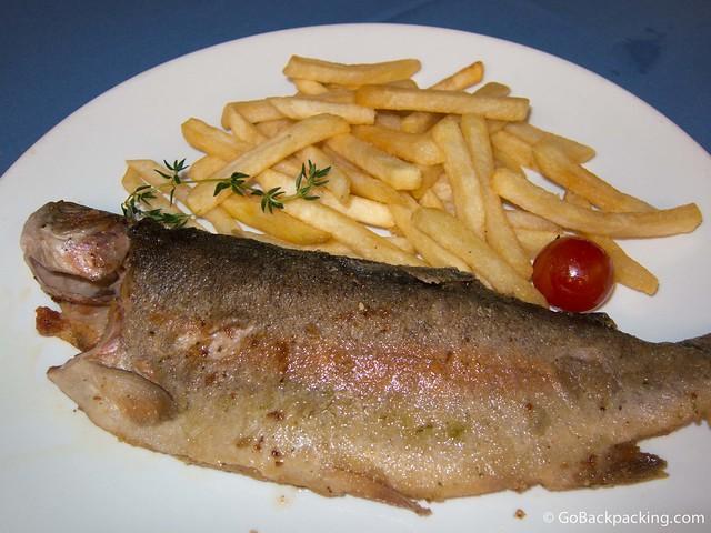 Trucha a la Plancha (Grilled Rainbow Trout)