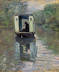 Claude Monet, French, 1840–1926. The Studio Boat, 1876. Oil on canvas. Photo: © 2012 The Barnes Foundation