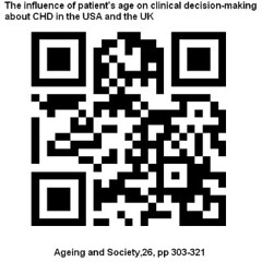 The influence of patient\'s age on clinical decisionmaking about coronary heart disease in the USA and UK