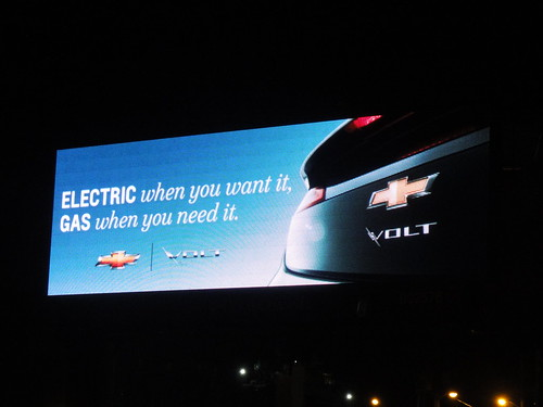 Chevy Volt advertisement.