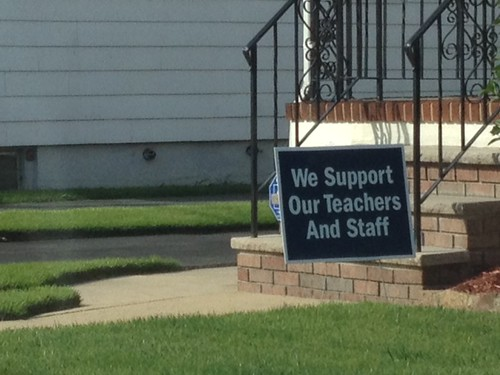 We Support Our Teachers and Staff