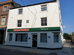 Photo of 23 Princes Street, Western Flying Post and Yeovil Times, and Yeovil Post Office blue plaque