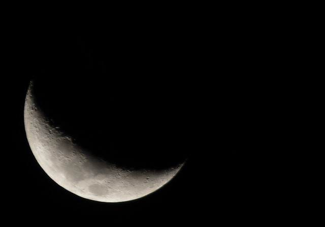 Waxing Crescent Moon 20120822