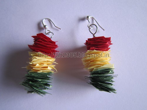 Handmade Jewelry - Scrap Paper Earrings (1) by fah2305