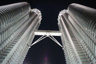 The famous Petronas Twin Towers