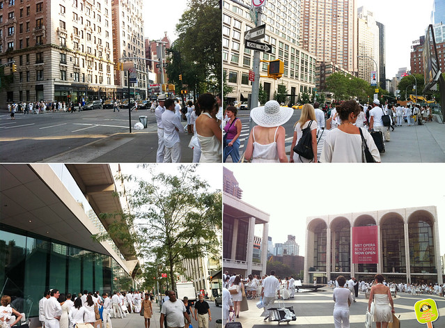 diner en blanc NYC 2012 secret meeting place