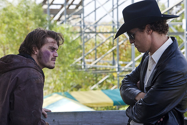 Emile Hirsch and Matthew McConaughey square off in KILLER JOE.