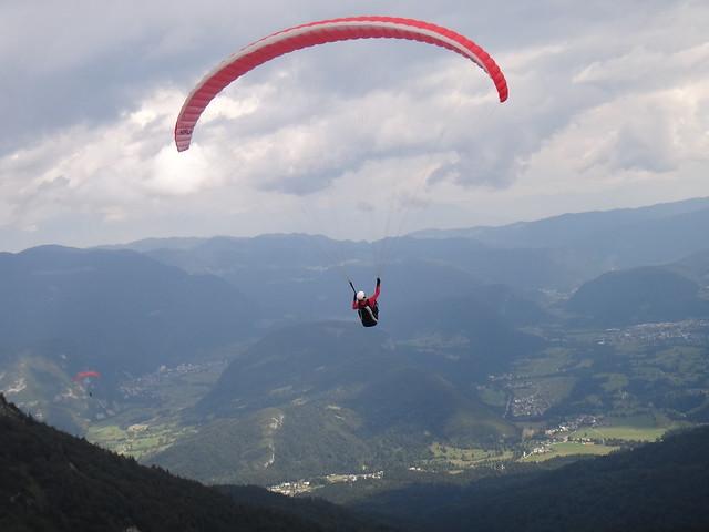 Paragliding over Slovenia