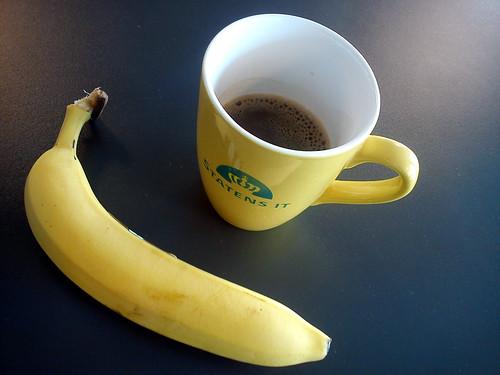 Banan og kaffe