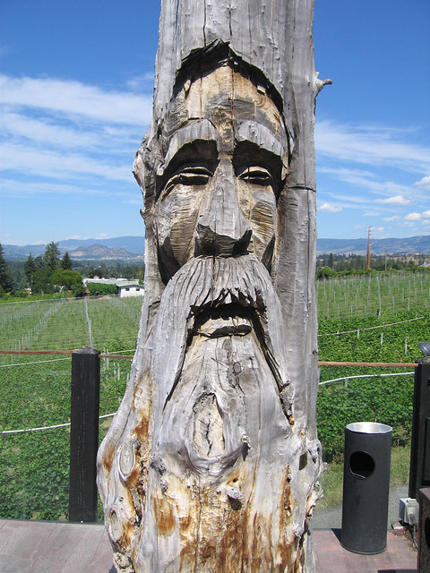 Totem Pole Carving At Summerhill Winery Wooden Totem