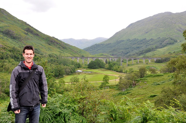 Looking across to the Glenfinnan Viaduct