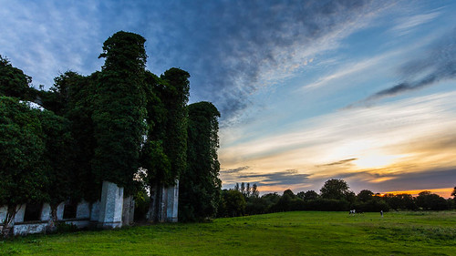 ireland sunset castle clouds canon u2 landscape vines europe farm ruin sigma1020mm westmeath unforgettablefire 60d 365project moydrum