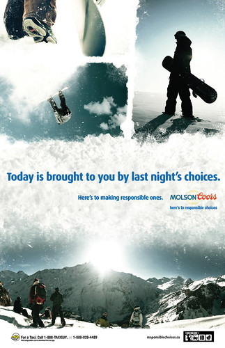 Molson Coors Campus Snow Boarder Poster