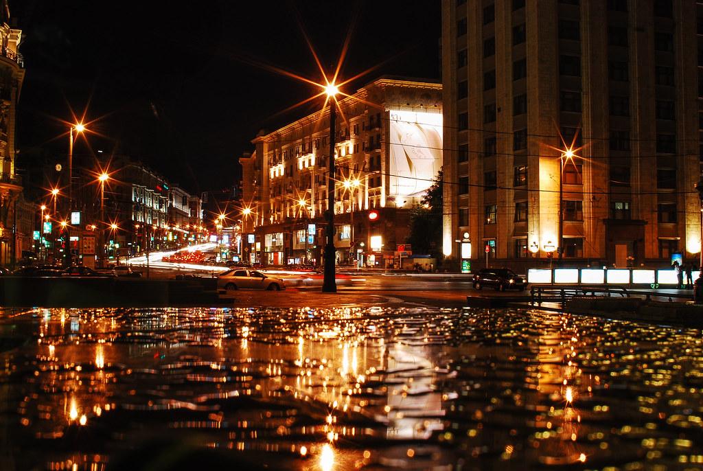 Tverskaya Street at Night