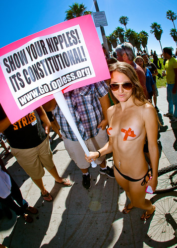 National Go Topless Day Venice Beach