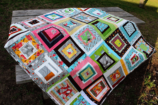 My new quilt made by the Ann Arbor Modern Quilt Guild