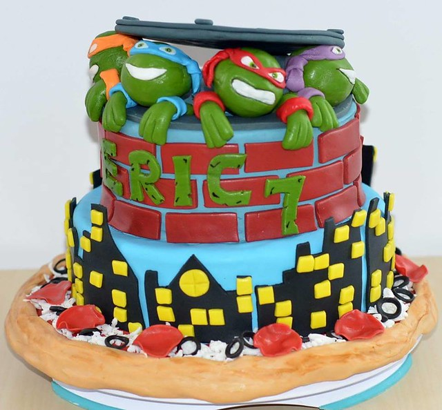 TMNT Themed Cake by Cristina Robea