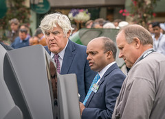 Jay Leno inspects Ford GT at the  2016 Concours D'elegance - Pebble Beach, CA