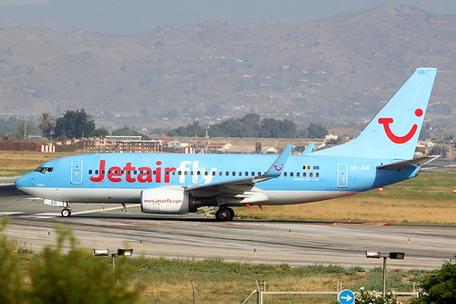 OO-JAR Jetairfly Boeing 737-700 Malaga Airport 17th August 2016