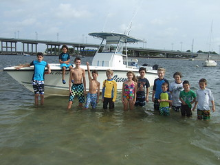Group photo on the sandbar.