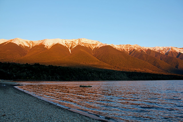 Sunset at Nelson Lakes