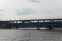 Luzhnetsky Metrobridge and Vorobyovy Gory station