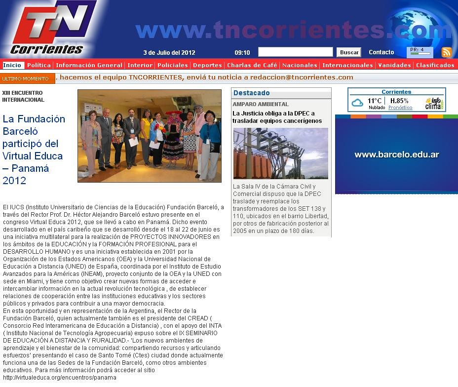 TN Corrientes - Virtual Educa - 30.06.12